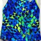 Speedo Girl's 1 Pc SwimSuit Swimwear~Blue, Teal, Green~Sz-7~ NWT