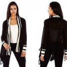 Mingle Women's Lightweight Knit Black Cardigan~Sz-S~NEW~ret~$59.99