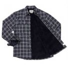 Boston Traders Men's Sherpa Flannel Plaid Shirt Jacket~Navy~Sz-XXL~NWT