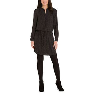 Hilary Radley Ladies' Printed Tunic Dress~Black & White Dot~Sz-XL~NWT