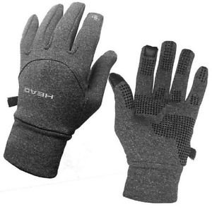 HEAD Athletic Digital Touch Running Gloves Sensatec~Heather Gray~Sz-XS & S~NWT