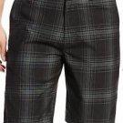 Quiksilver Men's Casual/Dress Walk Shorts~Black Plaid~Sz-34~NWT~ret-$49.50