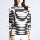 Joseph A. Women's Turtleneck Striped Sweater~Gray~Sz-M, L, XL, 2XL~NWT
