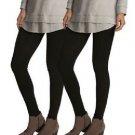 Felina Women's 2 Pack Lightweight Cotton Modal Stretch Leggings Black Sz-S, M, L