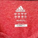 ADIDAS Womens Climalite Athletic Short Sleeve Crew Top T-Shirt~Red~Sz-XL~NWT