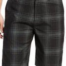 Quiksilver Men's Casual/Dress Walk Shorts~Black Plaid~Sz-30~NWT~ret-$49.50