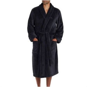 Tommy Bahama Men's Plush w/pockets Soft Robe~Charcoal~Size S/M~NWT