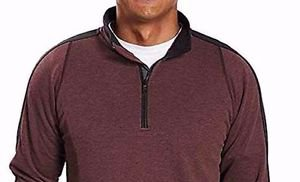 Hawke & Co. Men's Stretch 1/4 Zip Pullover Sweatshirt~Wine~Sz-2XL~NWT