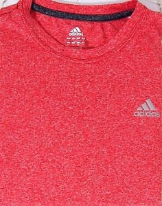Adidas Men's Clima Tech Climalite Short Sleeve Crew Tee Shirt~RED~Sz-M & L~NWT