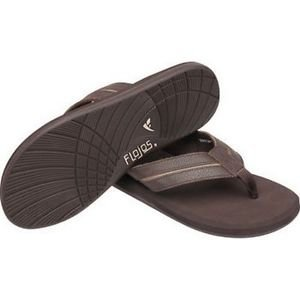 FLOJOS Men's Ryder  Sandals Slides Thong Flip Flops~Brown~Size-8~NWT