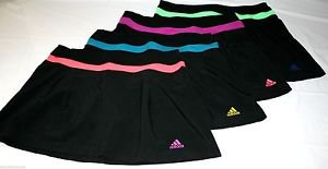 ADIDAS CLIMALITE  Athletic Skort Skirt~Black~Sz-M~NWT