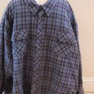 Foxfire Big & Tall Blue Plaid Quilted Jacket Coat~Size 5XB~NWT