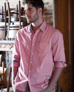 Weatherproof Men's Long Sleeve Button down Shirt~Red Mini Checks~Sz-XL~NWT