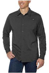 Gerry Men's Roll-Tab Long Sleeve Quick Dry Air Flow Shirt~Charcoal~Sz-2XL~NWT