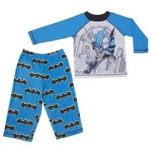 KOMAR KIDS BATMAN Boy's 2 pc Long Sleeve +Pajama Set~Sz-5~BLUE~NWT