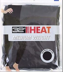 32 Degrees Heat Women's Base Layer Pant Medium Weight  BLACK Size-S, M