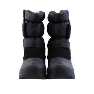 KHOMBU Kid's Waterproof Winter Snow Walker Boots~Black~Size-1 M~Unisex~NWT