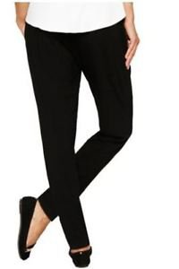 Matty M Women's Solid Soft Pants~Black~Sz-M~NWT~Super Comfy!!
