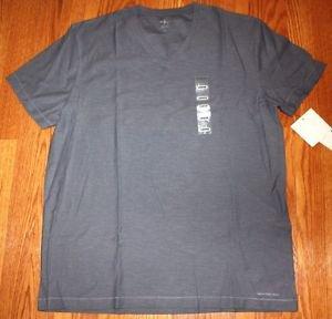 Calvin Klein Men's Textured V-Neck Short Sleeve T-shirt~Bayou~Sz-L~ret-$45~NWT