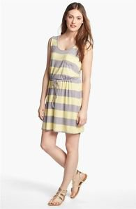 Olive & Oak Women's Summer Sun Dress~Yellow/Gray Striped~Sz-S,M,L,XL~NWT~ret-$50