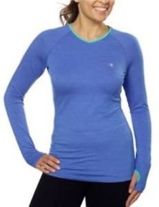Champion Women's Active Yoga Long SleeveThumbhole Tee Top~BLUE~Sizes Varies~NWT