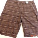 Quiksilver Men's Casual/Dress Walking Shorts~Khaki Plaid~Sz-34~NWT~ret-$49.50