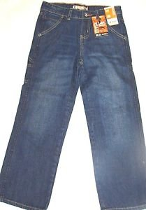 LEE Dungarees Boys Sure 2 Fit Relaxed Adjustable Waist Jeans~Sz-6~NWT