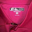 Pebble Beach Men's SS Polo Golf Moisture Wicking Shirt~Burgundy~Sz-M~NWT