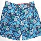 Nautica Men's Swim Trunks Swimsuit~Boardshorts~Blue~Ocean Seacreatures~Sz-M~NWT