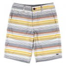 O'Neill Men's Hybrid Walking Board Shorts~Sz-40~Gray, Orange Stripes~ret-$78~NWT