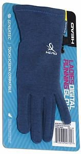Head Ladies Digital Touch Athletic Running SensaTec Gloves~Heather Blue~Sz-S~NWT