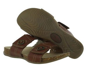Earth Origins Women's Leather Slip On Tessa Sandal~Brown~Sz-8.5 & 9~NEW~ret $79