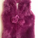 American Widgeon Girl's  Boutique Faux fur VEST~Purple~SZ-2t~NWT~ MSRP $60