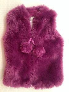 American Widgeon Girl's  Boutique Faux fur VEST~Purple~SZ-2t~NWT~ MSRP $60