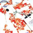 Vigoss Jeans Girl's Cuff Floral Shorts~Mandarin Rose~Sz-10~NWT