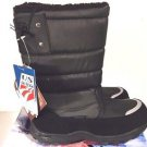 KHOMBU Kid's Waterproof Snow Walker Winter Boots~Black~Size-13 M~Unisex~NWT