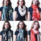 CELESTE Women's Cashmere Blend Printed Scarf Scarves~Variety of Colors~NWT