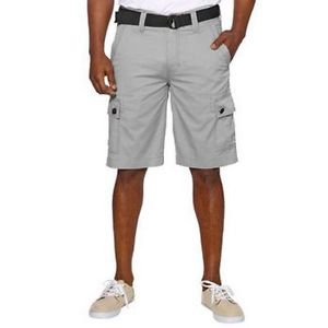 Wear First Men�s 685 LEGACY Belted Cargo Casual Shorts~Silver~Sz-32 thru 36~NWT