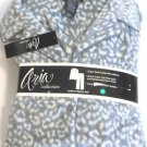 Aria Womens Pajama Set Pant/Shirt~2-Piece Sueded Microfeece~Gray Animal~Sz-L~NWT