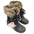 Khombu Women's Slope All-Weather Terrain Waterproof Snow Fur Boots~Sz-11~NWT