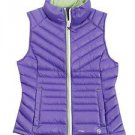 Free Country~Girls Purple Violet w/Lime Green~ Down Vest~sz-Large (14/16)~NWT