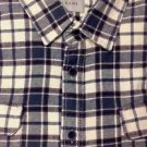 JACHS MFG Men's Heavy Flannel Long Sleeve Plaid Shirt~Cream/Gray/Rust~Sz-M~NWT