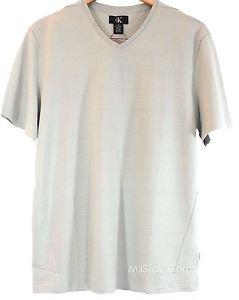 Calvin Klein Men's Textured V-Neck Short Sleeve T-shirt~Gray~Sz-XL~ret-$45~NWT