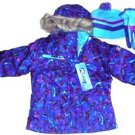 ZeroXposur Girls Tech Ski Snowboard Hooded Jacket w/Gloves & Hat~Sz-XS 4~NWT