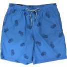 Kirkland Men's Swim Suit Shorts Trunks~Blue Pineapples~Size~2XL~NWT