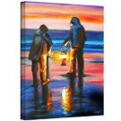 ArtWall Night Clammers by Susi Franco Painting Print on Wrapped Canvas~24x32~NEW