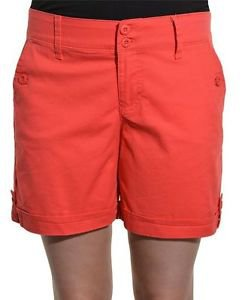 Gloria Vanderbilt Womens Stretch Celina Casual Shorts~Dragon Fruit~Sz~6~NWT