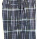 Kirkland Men's Casual Golf Moisture Wicking Shorts~Blue Plaid~Sz-32,34,36,38~NWT