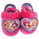 Disney Girl's Princess Belle  Ariel Slippers~Pink/Purple~Sz-L~NWT