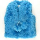 American Widgeon Girl's Boutique Faux Fur VEST~Blue~Sz-3t & 4t~NWT~ MSRP $60